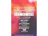 COMMENCE House & Techno Event