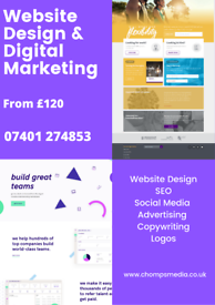 Professional Website Design | From £50 | SEO | Digital Marketing