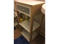 Tchibo Bathroom Unit (white/wood coloured)