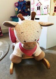 Nattou charlotte the giraffe children's rocker, rocking horse, £85 new, selling £30