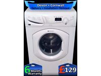 1600 Mega Spin, Hotpoint Washing Machine, LCD, Quick Wash, Fully Refurbished inc 6 Months Warranty