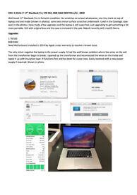 """2011 2.2GHz i7 17"""" MacBook Pro 1TB SSD, 8GB RAM"""