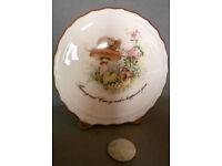 bone china mouse scene ornament