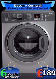 Hotpoint Washing Machine, 9Kg Mega Drum, Smart Tech, AAA+, Fully Refurbished inc 6 Months Warranty
