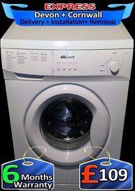 Fast 1200, Quick Wash, Bush 6kg Washing Machine, Many Progs, Fully Refurbished inc 6 Months Warranty
