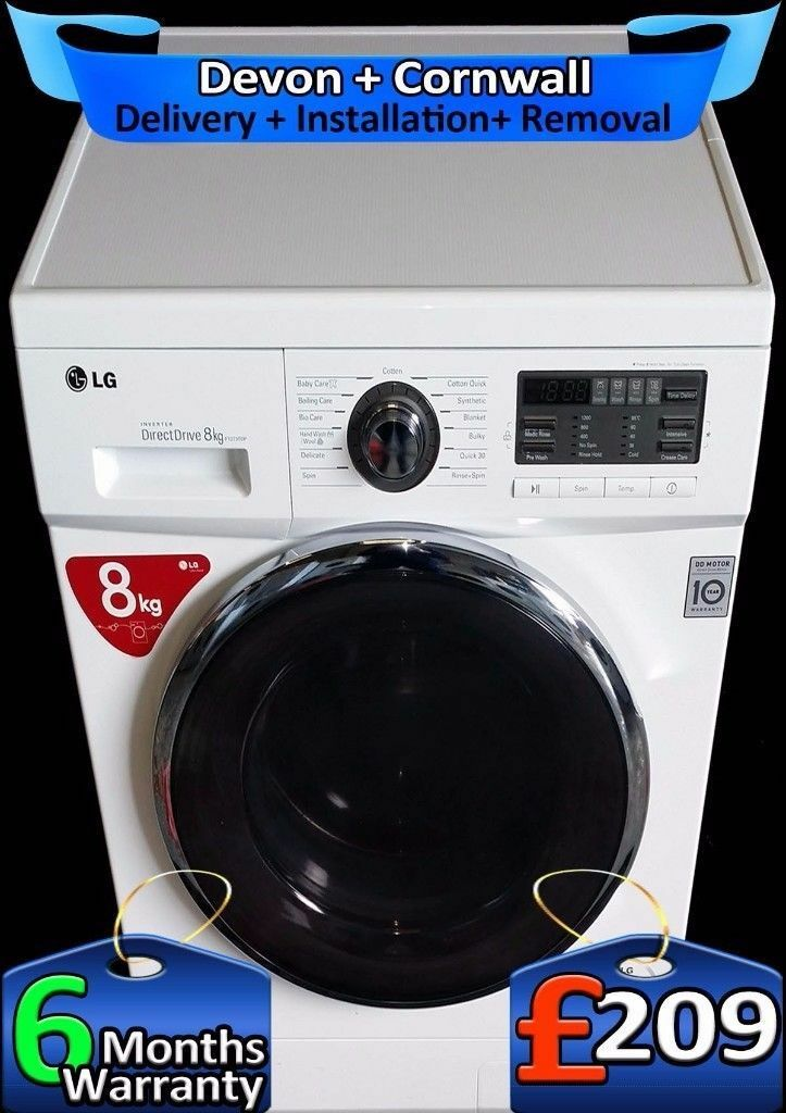 Top LG Direct Drive, Magnetic Motor, Top Tech 1400, Big 8Kg, Fully Refurbished inc 6 Months Warranty