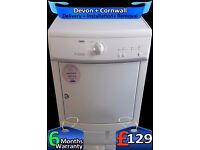 Auto Dry, Top Zanussi Condenser Tumble Dryer, Twin Heat, Fully Refurbished inc 6 Months Warranty