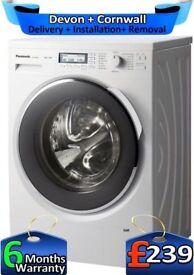 Inverter, Panasonic Washing Machine, Huge 10Kg, Fast 1400, Factory Refurbished inc 6 Months Warranty