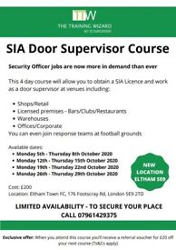 SIA Door Supervisor security officer 4 day course