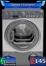 Hotpoint Condenser Dryer, Big 8Kg Load, Many Programs, Factory Refurbished inc 6 Months Warranty