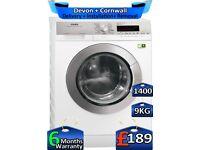 1400 Spin, AEG Washing Machine, 9kg Drum, Fast Wash, Factory Refurbished inc 6 Months Warranty