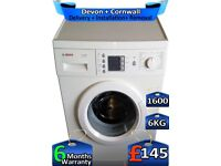 6kg Drum, Fast Wash, 1600 Spin, Bosch Washing Machine, Factory Refurbished inc 6 Months Warranty