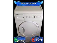 Large 8Kg Auto Dry, Top Bottle, Beko Condenser Tumble Dryer, Fully Refurbished inc 6 Months Warranty