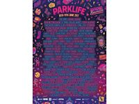 2 Parklife Weekend Tickets for sale face value o.n.o