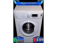 Hotpoint 1600 Mega Spin, Huge 8Kg Drum, LCD, A+ Rated, Fully Refurbished inc 6 Months Warranty