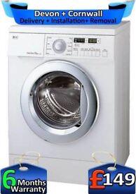 LG Washing Machine, No Belt, Direct Drive, Big 7.5Kg, 1200,Factory Refurbished inc 6 Months Warranty