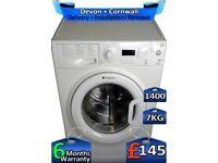 Hotpoint Washing Machine, AAA+,7kg Drum, 1400 Spin, Factory Refurbished inc 6 Months Warranty
