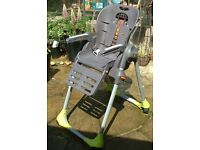 Chicco high chair - with feeding tray - but without its upholstery. Ripon
