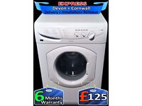 Big 7Kg Hotpoint Washing Machine, Quick Wash, LCD, Fully Reconditioned inc 6 Months Warranty