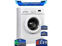 Quick Wash, Logik Washing Machine, 6kg Drum, 1200 Spin, Factory Refurbished inc 6 Months Warranty