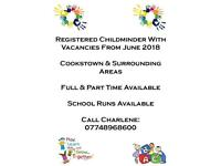 Registered childminder has vacancies