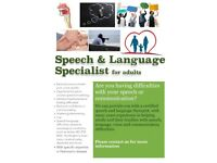 Speech and Language Therapist for Adults