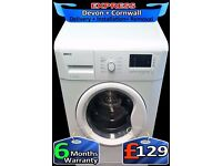 Beko Washing Machine, Fast wash, Big 7Kg Drum, 1300 spin, Fully Reconditioned inc 6 Months Warranty