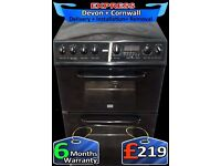 Fantastic Creda Double Fan Assisted Oven, Ceramic Hob, Fully Reconditioned inc 6 Months Warranty