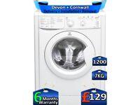 Indesit Washing Machine, Eco Time, 7kg Drum, 1200 Spin, Factory Refurbished inc 6 Months Warranty