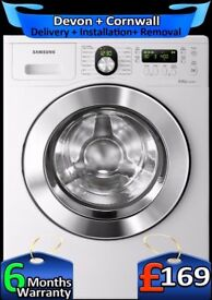 Samsung Washing Machine, 8Kg Big Drum, Air-Dry, Fast wash, Fully Refurbished inc 6 Months Warranty