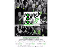 Sound of Soul 5th Anniversary Concert, 8th April in the Regent Centre, tickets £7
