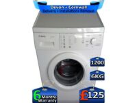 1200 Spin, 6kg Drum, Touch Control, Bosch Washing Machine, Factory Refurbished inc 6 Months Warranty