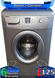 Beko Washing Machine, 1600 Mega Spin, Big 6Kg, A+, Silver, Factory Refurbished inc 6 Months Warranty