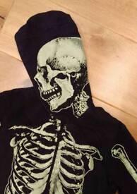 Boys glow in the dark skeleton onesie