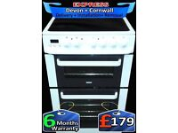 Zanussi LCD Double Oven, All white, Fan Assisted, Fully Reconditioned inc 6 Months Warranty
