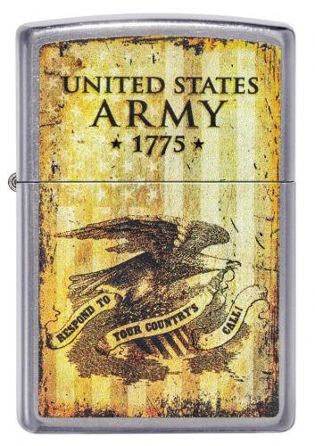 Zippo Lighter - Vintage U.S. Army® Street Chrome - 49315