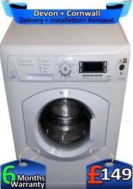 Huge 8Kg, Fast 1600, Hotpoint Washing Machine, Big LCD, Factory Refurbished inc 6 Months Warranty