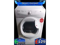 Hoover Big 8kg Condenser Tumble Dryer, Auto-Sense, A+ Rated, Fully Refurbished inc 6 Months Warranty