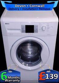 Beko Washing Machine, Fast 1300, Big 8kg Drum, LCD, A+Rated, Fully Refurbished inc 6 Months Warranty
