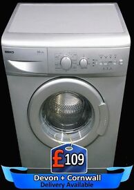 Fast 1200 spin, Silver Beko Washing Machine, Time Saver, Fully Reconditioned inc 6 Months Warranty
