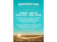 2 x Boardmasters Festival - weekend camping ticket
