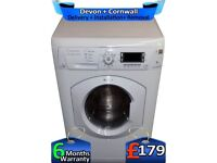 Big 7+5Kg, LCD, Hotpoint Washer Dyer, 60 Mins, A+ Rated, Factory Refurbished inc 6 Months Warranty