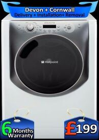 11Kg Mega Drum, Top Tech Hotpoint Washing Machine, LCD, A++, Fully Refurbished inc 6 Months Warranty