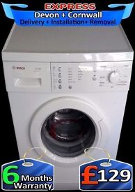 Fast 1200 Bosch Washing Machine, Bargain, Touch Control, Fully Reconditioned inc 6 Months Warranty