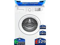 Quick Wash, 7kg Drum, 1200 Spin, Beko Washing Machine, Factory Refurbished inc 6 Months Warranty