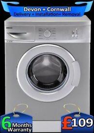 Fast 1100, Silver, Beko Washing Machine, 5Kg, Slimline, Factory Refurbished inc 6 Months Warranty