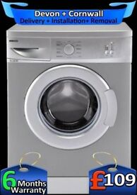 Fast 1100, 5Kg, Slimline, Silver, Beko Washing Machine, Factory Refurbished inc 6 Months Warranty