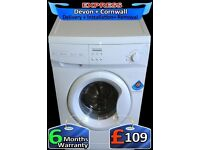 Pro-Action Washing Machine, Gloss White, 5kg, Quick Wash, Fully Reconditioned inc 6 Months Warranty