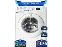 1600 Spin, 9kg Drum, Rapid Wash, Indesit Washing Machine, Factory Refurbished inc 6 Months Warranty