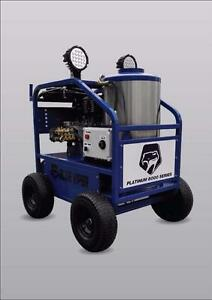 BLUE VIPER 8000 DIESEL FIRED HOT WATER PRESSURE WASHER 15 HP ELECTRIC START